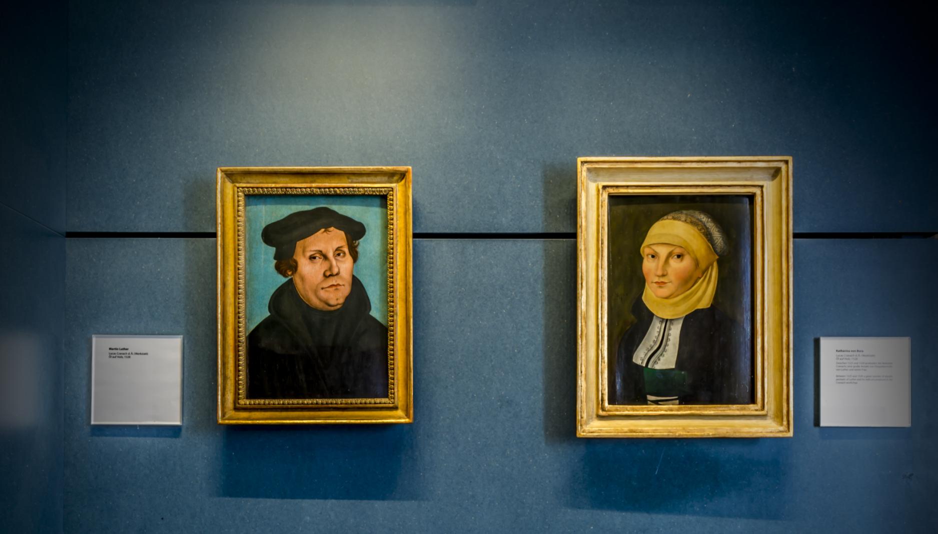 Luther mit Katharina von Bora