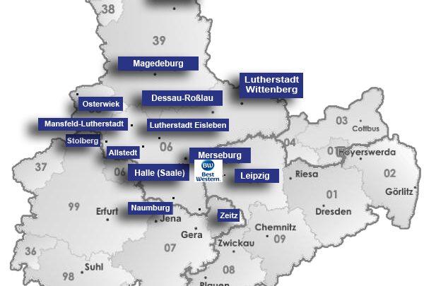 Zentral in Merseburg zum Lutherjahr 2017 übernachten
